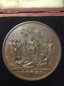A SCARCE ORIGINAL VICTORIA,GOLDEN JUBILEE 1887, LARGE SIZE BRONZE MEDAL