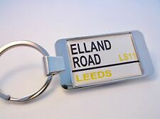 LEEDS STADIUM BADGE STREET SIGN KEYRING KEY FOB GIFT