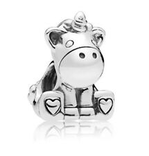 🇬🇧💜💜925 STERLING SILVER BRUNO THE UNICORN CHARM & POUCH