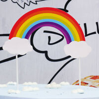 Rainbow Cupcake Toppers Cake Picks Flags Wedding Birthday Party Decoration New
