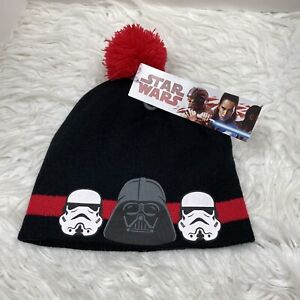 NEW DISNEY STAR WARS Youth Beanie Skull Hat Red Black Stormtrooper Darth Vader