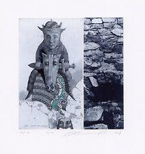 Horse Rider, Limited Edition,Surrealistic Ex libris Etching by Juri Jakovenko
