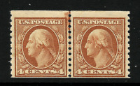 1917 US #495 Mint-LH  ~ 4c Horizontal Coil Joint Line Pair [Perf 10 Vertically]