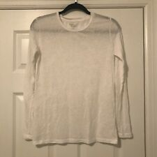 Majestic Filatures Long Sleeve White Deluxe T-Shirt - Size 1
