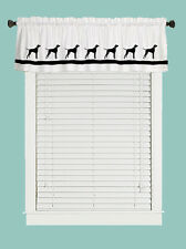 Plott Hound Dog Window Valance Curtain in Your Choice of Colors