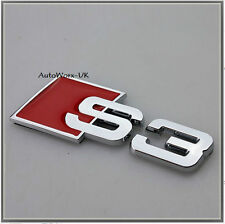 S3 Badge Emblem Decal Sticker Logo A3 RS3 RS S Audi boot lid rear trunk tailgate