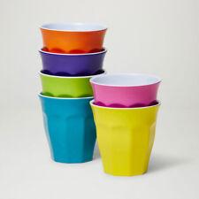 "Barel Designs Classic ""Fiesta"" Melamine Tumblers 260mL - Set of 6 Picnic Cups"