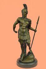 Bronze/Copper Statue Roman Centurion/Soldier Spartan Warrior Sculpture - Marble