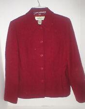 """Eddie Bauer burgundy textured wool jacket  8- 40"""" EC"""