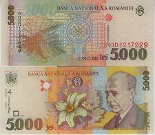 ROUMANIE billet neuf de 5000 lei Pick107  LUCIAN BLAGA 1998