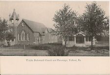 Trinity Reformed Church and Parsonage Telford PA Postcard