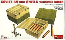 MiniArt 35073 Soviet 45 mm Shells ammo boxes - Munition und Kisten - 1:35