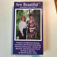 Martha Pullen Sew Beautiful Subscriber's Free Video II NEW VHS Tape Sealed