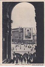 """# MILANO: PIAZZA DEL DUOMO CON PUBBLICITA' """"SUPERSAPOL BERTELLI"""" - 1937"""