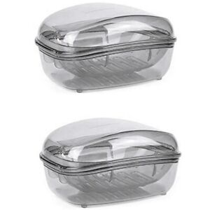 Soap Case Holder Container Box for Home Large Size Transparent Placsti