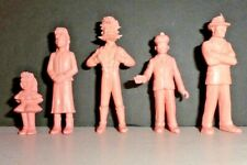 Vintage Marx Playset Dick Tracy Bo Plenty 60mm Cartoon Plastic Figs Lot of 5