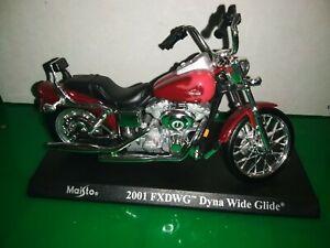 Moto Motocicletta Maisto Harley Davidson 2001 FXDWG Dyna Wilde Gilde 1/18