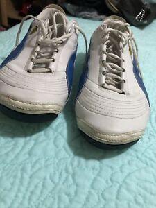 Men Puma  Ferrari Shoes Sz 10 Leather White Blue