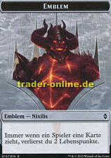 Spielstein - Emblem Nixilis (Token - Emblem Nixilis) Battle for Zendikar Magic
