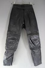 RIOSSI BLACK COWHIDE LEATHER BIKER TROUSERS: WAIST 26 INCH/INSIDE LEG 28 INCH