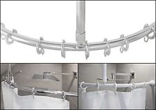 alluminio asta ad arco privo BARRIERE ARCHITETTONICHE per tenda doccia ovale