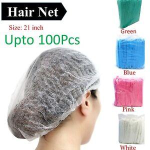 Disposable Hair Net Caps Hairnet Dust Head Cover Stretch Elastic Hat 1x to 100x