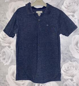 Boys Age 10-12 Years - Calvin Klein Navy Polo Shirt