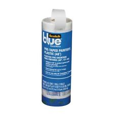 ScotchBlue Pre-taped Painter's Plastic, Unfolds to 48-Inches by 30-Yard