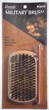 "NEW ANNIE HARD MILITARY BRUSH 100% PURE BOAR BRISTLES #2118 w/ 4.8"" POCKET COMB"