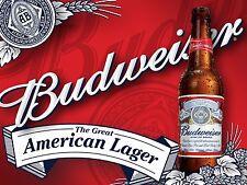 Bud American Lager, Retro metal Aluminium Vintage Sign Bar Pub Club Man Cave