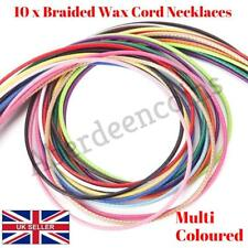 "10Pcs 20"" 1.5mm Braided Wax Cord Cotton Necklace for DIY Jewellery Making Charm"