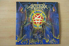 "ANTHRAX AUTOGRAPHEs signed LP-Cover ""For all KINGS"" Vinyle"