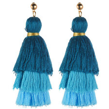 Vintage Bohemian Earrings Women Long Tassel Fringe Dangle Earrings Boho Jewelry