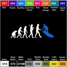EVOLUTION SURFER  Vinyl Decal Surf Ocean Beach Sticker Window Car