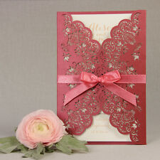 Intricate Filigree Laser Cut Wedding Invitation Handmade Personalized SAMPLE