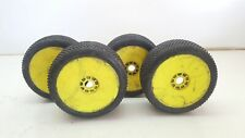 Used 1/8 Schumacher Mini Pin 4WD Buggy Wheels & Tyres Set 4