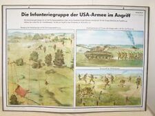 Groupe Wallchart Lehrtafel Nva La d'infanterie US Dans armée attaque No.13