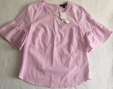 NWT JCREW Button-back bell-sleeve top SP 17 Size4 G2264 Neon Orchid Color