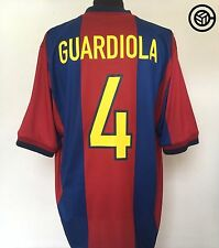GUARDIOLA #4 Barcelona Player Issue Spec Nike Home Football Shirt 1998/99 (XL)
