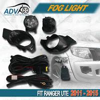 Fog Light Spot Driving Lamp KIT Set For Ford Ranger Ute 11~15 PX (Black)