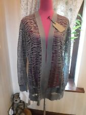 Amazing All Saints Shor Cardigan Gunmetal Size L BNWT