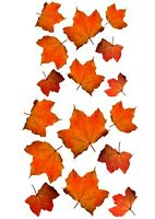 EDIBLE ECO WAFER CUPCAKE TOPPER 16 Piece AUTUMN LEAVES AMBER