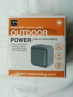 Masterplug WP12 IP66 Outdoor Weatherproof 20AX Single 2 Way Switch