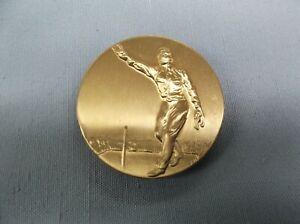 "MALE HORSESHOE trophy parts finish gold metal insert 2"" diameter lot of 10"