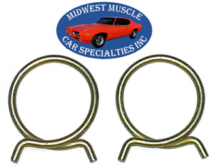 """Ford Mercury 2"""" O.D. Corbin Style Spring Heater Radiator Hose Clamps 2pcs LC"""