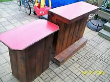 "Rustic Handmade Wood Two Bars (Small&Large 49"" T x 19"" D)& Three Stools"