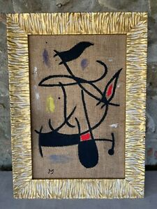 JOAN MIRO' - Oil on original canvas of 1960's