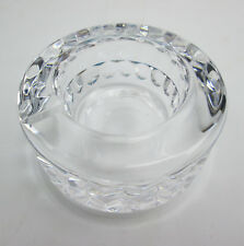 Small Crystal Glass Ashtray Kosta Boda Sweden Design by Goran Warff 76153 Signed