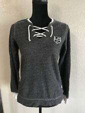LA Kings Antigua Criss Cross Neck Line Long Sleeve Small