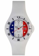 ToyWatch Unisex France flag Dial White Rubber Strap Quartz Watch JYF02FR